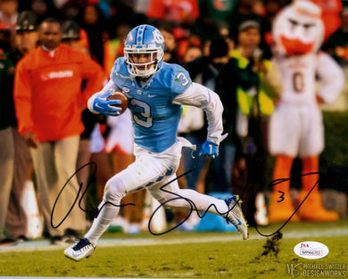 ryan switzer autograph, unc tar heels, north carolina tar heels, pittsburgh steelers