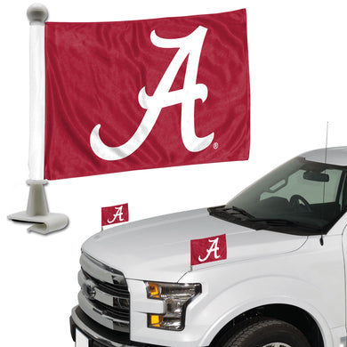 Alabama Crimson Tide Team Ambassador Car Flags Set of 2