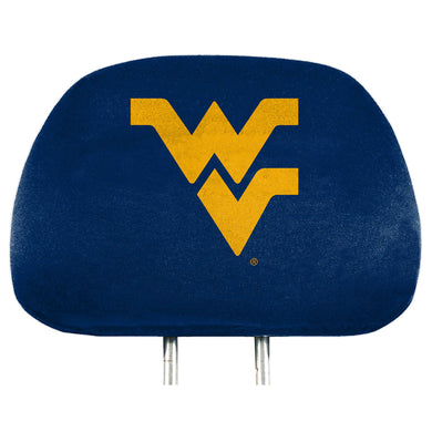 West Virginia Mountaineers Team Color Headrest Covers