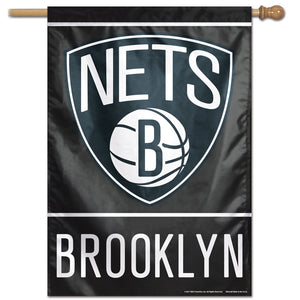 "Brooklyn Nets Vertical Flag 28""x40"""