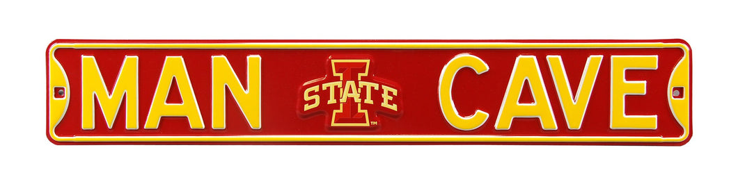 Iowa State Cyclones Man Cave Metal Street Sign