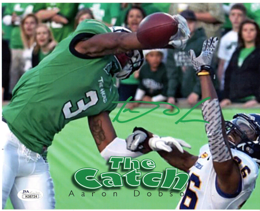 marshall football, aaron dobson autograph, the catch
