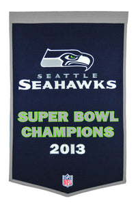 seattle seahawks super bowl champions dynasty wool banner