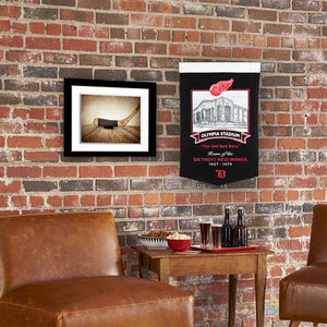 "Detroit Red Wings Olympia Stadium Banner - 15""x24"""