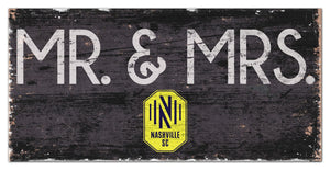 "Nashville SC Mr. & Mrs. Wood Sign - 6""x12"""