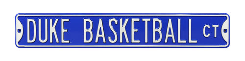 Duke Blue Devils Metal Street Sign