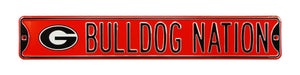 Georgia Bulldogs Metal Street Sign Bulldog Nation