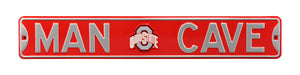 Ohio State Buckeyes Man Cave Metal Street Sign