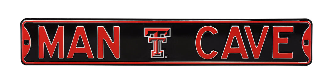 Texas Tech Red Raiders Man Cave Metal Street Sign