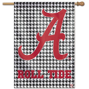 "Alabama Crimson Tide Houndstooth Vertical Flag -28""x40"""