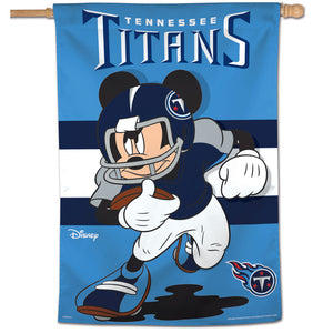 "Tennessee Titans Mickey Mouse Vertical Flag - 28""x40"""