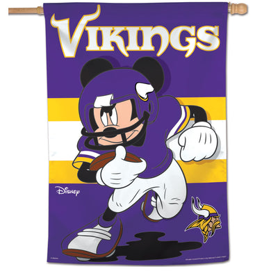 Minnesota Vikings Mickey Mouse Vertical Flag - 28