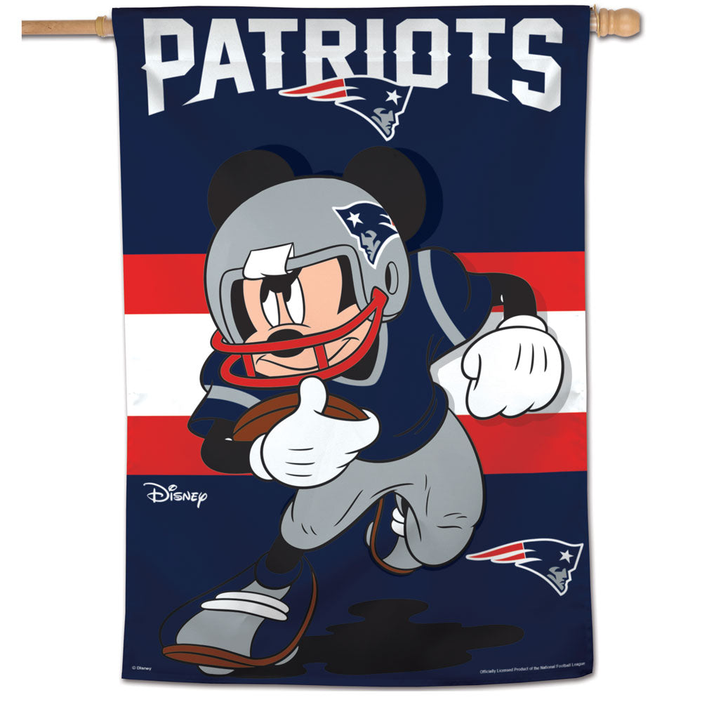 New England Patriots Mickey Mouse Vertical Flag - 28