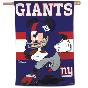 "New York Giants Mickey Mouse Vertical Flag - 28""x40"""