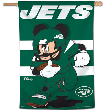 New York Jets Mickey Mouse Vertical Flag - 28
