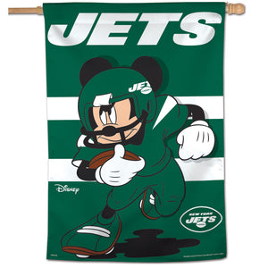 "New York Jets Mickey Mouse Vertical Flag - 28""x40"""
