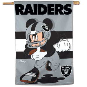 "Oakland Raiders Mickey Mouse Vertical Flag - 28""x40"""