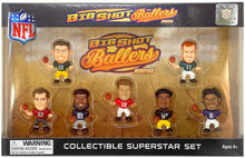 Big Shot Ballers MiniFig NFL Series 1 Gift Set,  Patrick Mahomes - Kansas City Chiefs • Lamar Jackson -  Baltimore Ravens • Tom Brady - Tampa Bay Buccaneers • Ezekiel Elliott - Dallas Cowboys • Aaron Rodgers - Green Bay Packers • Juju Smith Schuster - Pittsburgh Steelers • Carson Wentz - Philadelphia Eagles