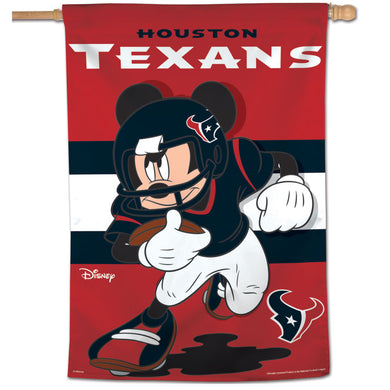 Houston Texans Mickey Mouse Vertical Flag - 28
