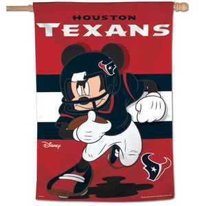"Houston Texans Mickey Mouse Vertical Flag - 28""x40"""