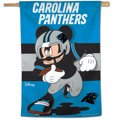 Carolina Panthers Mickey Mouse Vertical Flag - 28