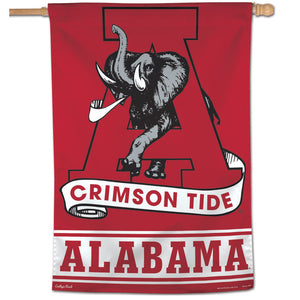 Alabama Crimson Tide College Vault Vertical Flag