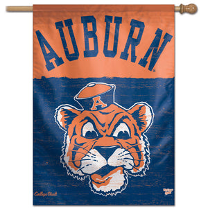 Auburn Tigers College Vault Vertical Flag