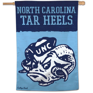 "North Carolina Tar Heels College Vault Vertical Flag - 28"" X 40"""