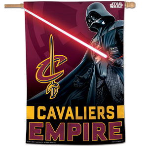 "Cleveland Cavaliers Star Wars Darth Vader Vertical Flag 28""x40"""