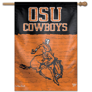 "Oklahoma State Cowboys College Vault Vertical Flag - 28"" X 40"""