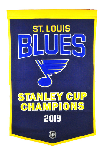 St. Louis Blues Stanley Cup Champions Dynasty Wool Banner - 24