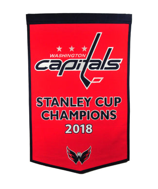 Washington Capitals Stanley Cup Champions Dynasty Wool Banners - 24
