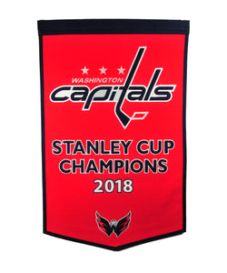 "Washington Capitals Stanley Cup Champions Dynasty Wool Banners - 24""x36"""