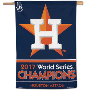 Houston Astros 2017 World Series Champions Vertical Flag