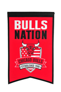 "Chicago Bulls Nations Wool Banner - 14""x22"""
