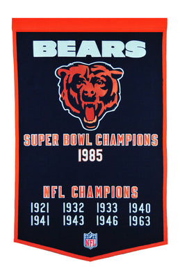 Chicago Bears Dynasty Champions Wool Banners - 24
