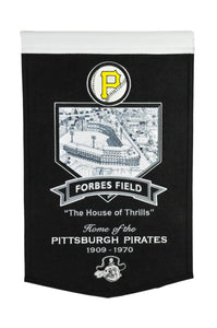"Pittsburgh Pirates Forbes Field Stadium Pirates Banner - 15""x24"""