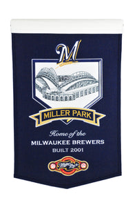 "Milwaukee Brewers Miller Park Banner - 15""x24"""