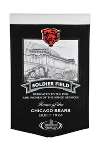 "Chicago Bears Solider Field Stadium Banner - 15""x24"""