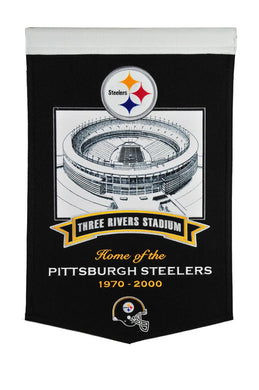 Pittsburgh Steelers Three Rivers Stadium Steelers Banner - 15