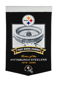 "Pittsburgh Steelers Three Rivers Stadium Steelers Banner - 15""x24"""