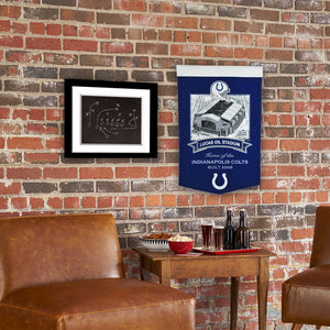 "Indianapolis Colts Lucas Oil Stadium Banner - 15""x24"""