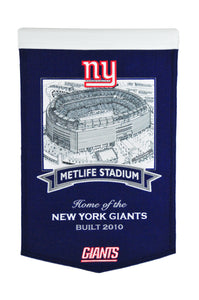 "New York Giants Metlife Stadium Banner- 15""x24"""
