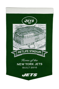 "New York Jets Metlife Stadium Banner - 15""x24"""