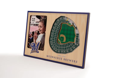 Milwaukee Brewers 3D StadiumViews Picture Frame