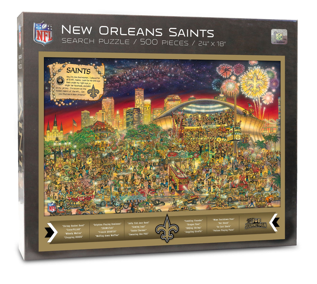 New Orleans Saints Joe Journeyman Puzzle