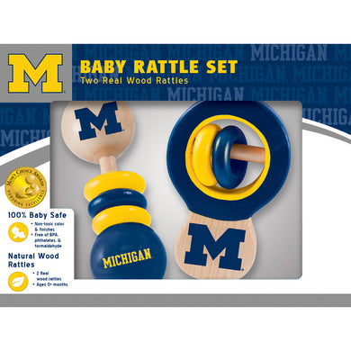 Michigan Wolverines Baby Rattles