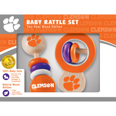 clemson tigers baby rattles