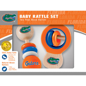 Florida Gators Baby Rattle Set