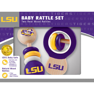 LSU Tigers Baby Rattles